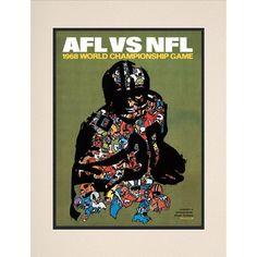 "Fanatics Authentic 1968 Packers vs. Raiders Framed 10.5"" x 14"" Matted Super Bowl II Program - $29.99"