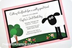 Shaun the Sheep invitation