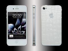FL Luxury Product iPhone 4 alligator white Iphone 4, Luxury, Leather