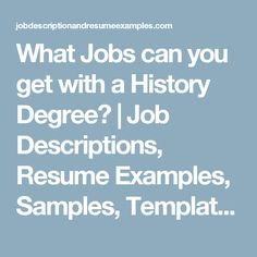 Best Jobs for History Majors: 2016 Edition   GetEducated.com ...