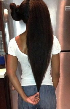 Who says black girls can't have long hair?