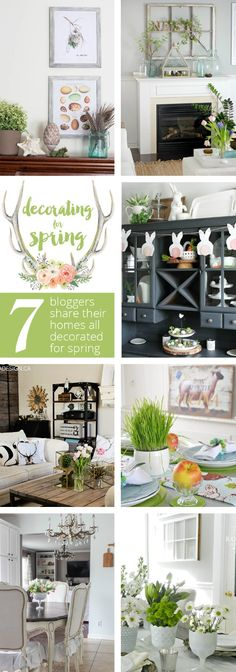 White wash paint a pic frame and add and Easter motif. Beautiful ideas to decorate your home for spring! // cleanandscentsible.com