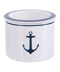 White Anchor Dip Bowl #zulily #zulilyfinds