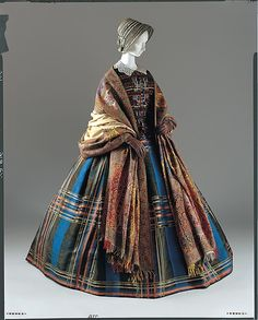 Dress Date: ca. 1857 Culture: European Medium: silk Dimensions: [no dimensions available] Credit Line: Gift of Mrs. Edwin R. Metcalf, 1969 Accession Number: C.I.69.32.2a, b