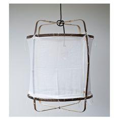Material: Bambus, Sisal Farbe: schwarz Größe: D42xH57cm Kabellänge: ca…