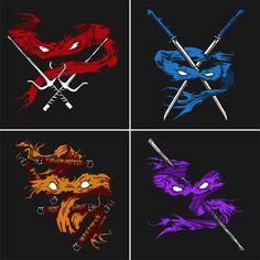 Teenage Mutant Ninja Turtles Minimalist T-Shirts These would make for pretty cool artwork Teenage Mutant Ninja Turtles, Ninja Turtles Art, Teenage Turtles, Ninja Turtle Tattoos, Arte Ninja, Creation Art, Neue Tattoos, Bd Comics, Geek Out
