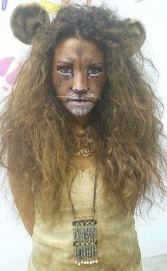 Homemade lion costume ideas halloween pinterest lions dreams disfraz y maquillaje de len teacher halloween costumeslion solutioingenieria Choice Image