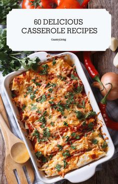What's better than a hot, fresh casserole straight out of the oven? Not much—except the knowledge that you've always got a foolproof recipe for one in your back pocket at all times. Easy Casserole Recipes, Casserole Dishes, Easy Dinner Recipes, Vegetarian Recipes, Cooking Recipes, Healthy Recipes, Pasta, Chicken Recipes, Oven
