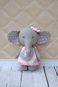 Textile elephant, elephant rag,toy elephant,Elephant doll by NilaDolss on Etsy https://www.etsy.com/listing/235086160/textile-elephant-elephant-ragtoy