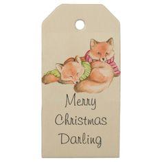 #Merry Christmas Darling Wooden Gift Tags - #Xmas #ChristmasEve Christmas Eve #Christmas #merry #xmas #family #kids #gifts #holidays #Santa