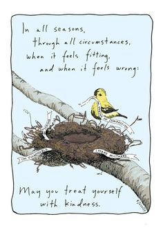 This image of building a nest of self-kindness speaks right to my heart. :: Print by TrustTending
