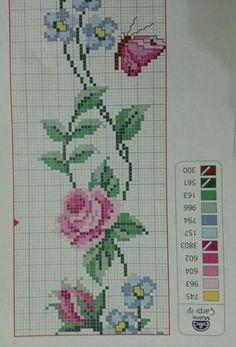Cross Stitch Cards, Cross Stitch Borders, Cross Stitch Flowers, Cross Stitch Embroidery, Cross Stitch Patterns, Bullet Journal, Free Pattern, Cross Stitch Owl, Cross Stitch Rose