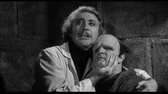"""Gene Wilder as Doctor """"Fronk-en-steen"""" and Peter Boyle as the Monster play it for laughs in Mel Brooks' Young Frankenstein."""