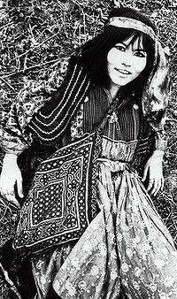 Hippie chick … Jenny Kee in London, 1967.