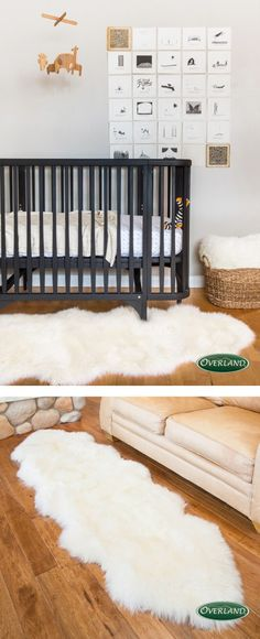 Your baby will love crawling around on a soft sheepskin rug