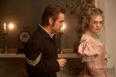 The Beguiled: Colin Farrell has his eye on Elle Fanning in new photo