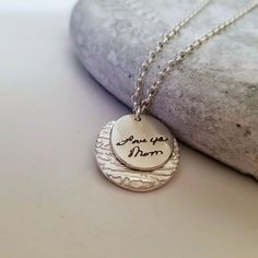 Sterling Silver Fingerprint Jewelry, Custom Engraving Personal Handwriting Signature Personalized Memorial, Grieving, Loss of Loved One Silver Necklaces, Sterling Silver Bracelets, Silver Earrings, Silver Ring, 925 Silver, Silver Jewellery, Jewelry Rings, Earrings Uk, Bangle Bracelets