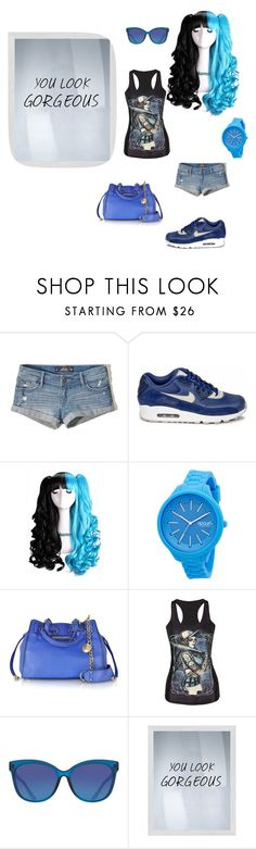 """""""ice cream paint job"""" by sexybadbitches on Polyvore featuring Hollister Co., NIKE, Rip Curl, Juicy Couture, ToyShades and PTM Images"""