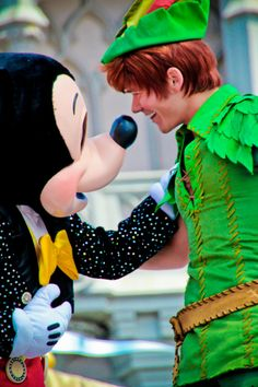 Peter Pan and Mickey ディズニー