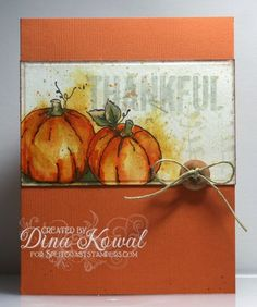 Mama Dini's Stamperia: Impression Obsession DT Challenge: Thanksgiving Wishes