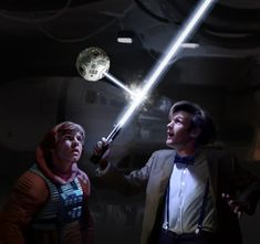 Luke Skywalker passes on knowledge to the Doctor