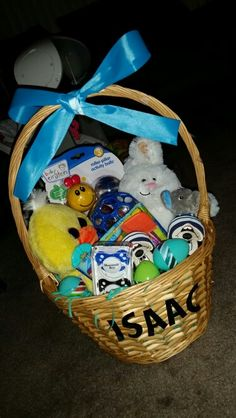 Looking for fun easter basket ideas make your baby boys first looking for fun easter basket ideas make your baby boys first easter the best with the cutest bodysuit pants and bib and some rattles to keep h negle Images