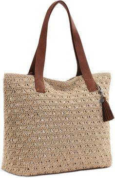 Best 8 The Sak Fairmont Crochet Tote Crochet Tote, Crochet Handbags, Crochet Purses, Shopper Bag, Tote Bag, Suede Handbags, Straw Tote, Knitted Bags, Casual Bags