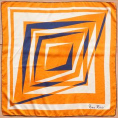 'NINA RICCI - PARIS' 1960s ABSTRACT MOTIF SILK SCARF - (Q) | eBay