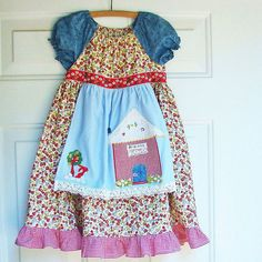 PREORDER  Red Riding Hood Dress Applique by reimaginedtreasures,