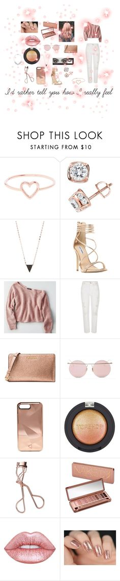 """""""Rose Gold💍"""" by wildinvianay ❤ liked on Polyvore featuring Love Is, TruMiracle, Lana, Steve Madden, American Eagle Outfitters, River Island, Michael Kors, LMNT, Rebecca Minkoff and Topshop"""