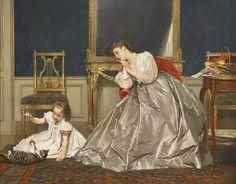 Gustave Leonard de Jonghe (Bélgica, 1829-1893). Game time.