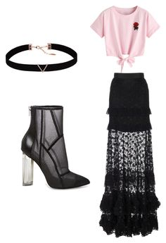 """Sans titre #8"" by agathe-renard on Polyvore featuring mode, WithChic, Janis, Astrid & Miyu et Steve Madden"