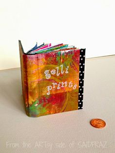 Such a cute idea ~ a book to store all of your Gelli® prints!