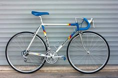 Raleigh Team Panasonic vintage road bike with Shimano 600 groupset.