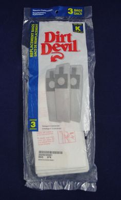 Dirt Devil Type K Vacuum Cleaner Bags 3-320230-001 Stick Vac 1 pack of 3 bags #DirtDevil