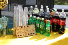 Safari-Theme Birthday Party Signage for Beverage Table