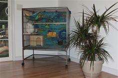 Custom chinchilla cage setup - with accessories