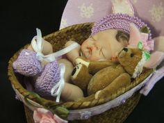 baby tutorial on how to make full sculpt ooak polymer clay babies. via Etsy.