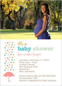 Rain Showers Baby Shower Invitation