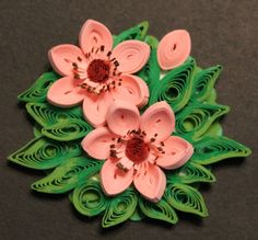 Quilled fridge magnet quilled flowers on a di Especially4UHandmade