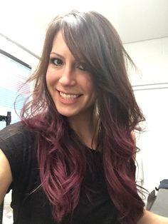 Berry ombré hair #longhair #brunette #danascarff #avedahaircolor Follow me on IG stylist.dscarff