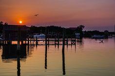 Beautiful Sunset on Silver Lake Harbor.  Deborah Monahan Page