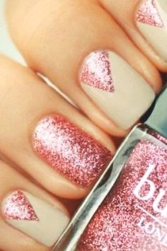 glitter nails for summer 2013 ROSE