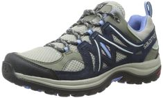 Salomon Women's Ellipse 2 Aero W Hiking Shoe, Titanium/Deep Blue/Petunia Blue, 9.5 B US