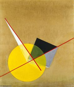 amarillo círculo de Laszlo Moholy Nagy (1895-1946, Hungary)