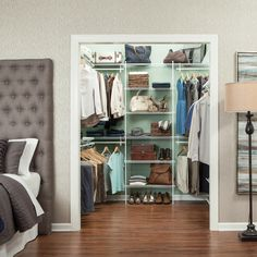 #ProTip: A contrasting color can make any closet pop. Bonus points if you use a fixed mount wire system to let the color really stand out. #ClosetOrganization #ClosetStyle #Closet #ClosetMaid #ClosetDesign Closet Storage, Wire Closet Shelving, Closet Shelves, Wire Shelving, Closet Maid, Closet System, Shelving, Closet Bedroom, Closetmaid
