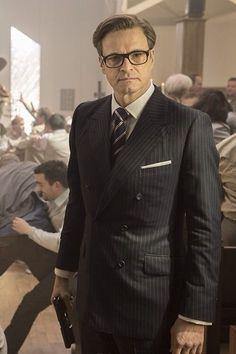 Killthemall Kingsmen The Secret Service, Taron Egerton Kingsman, Charming Man, Colin Firth, Gentleman Style, Vintage Gentleman, Double Breasted Blazer, Mens Suits, Menswear