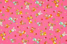 NEW, Japanese, Matryoshka Animal Friends in Pink, FAT QUARTER