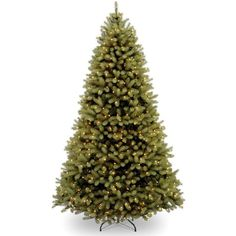 6-ft. Pre-Lit ''Feel Real'' Downswept Douglas Fir Artificial Christmas... ($504) ❤ liked on Polyvore featuring home, home decor, holiday decorations, green and green home decor
