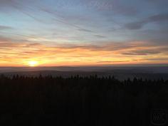 Hoher Stein (Vysoký kámen) #Sonnenuntergang  Blick nach #Erlbach #Markneukirchen